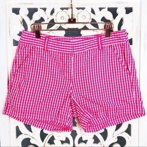 J. Crew Pink White Gingham Shorts